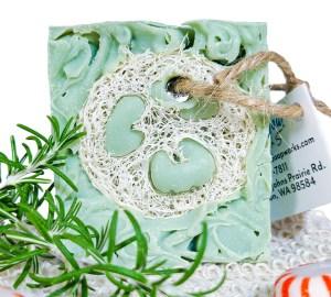 Tea Tree Peppermint Loofah soap scrub image