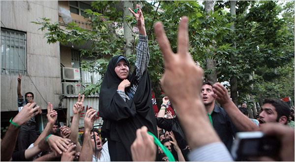 Faezeh Hashemi, daughter of Ali Rafsanjani