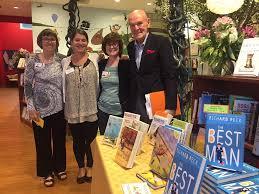 Broche with author, Richard Peck, 2017 Quail Ridge Books