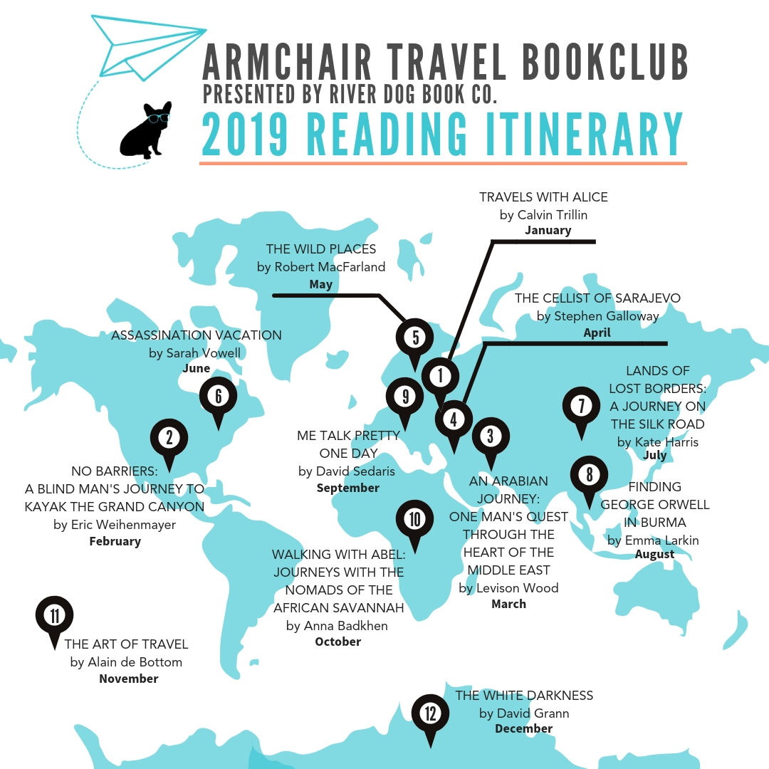 2019 Reading Itinerary Map