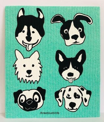 Bow-Wow-Green-Swedish-Dishcloth
