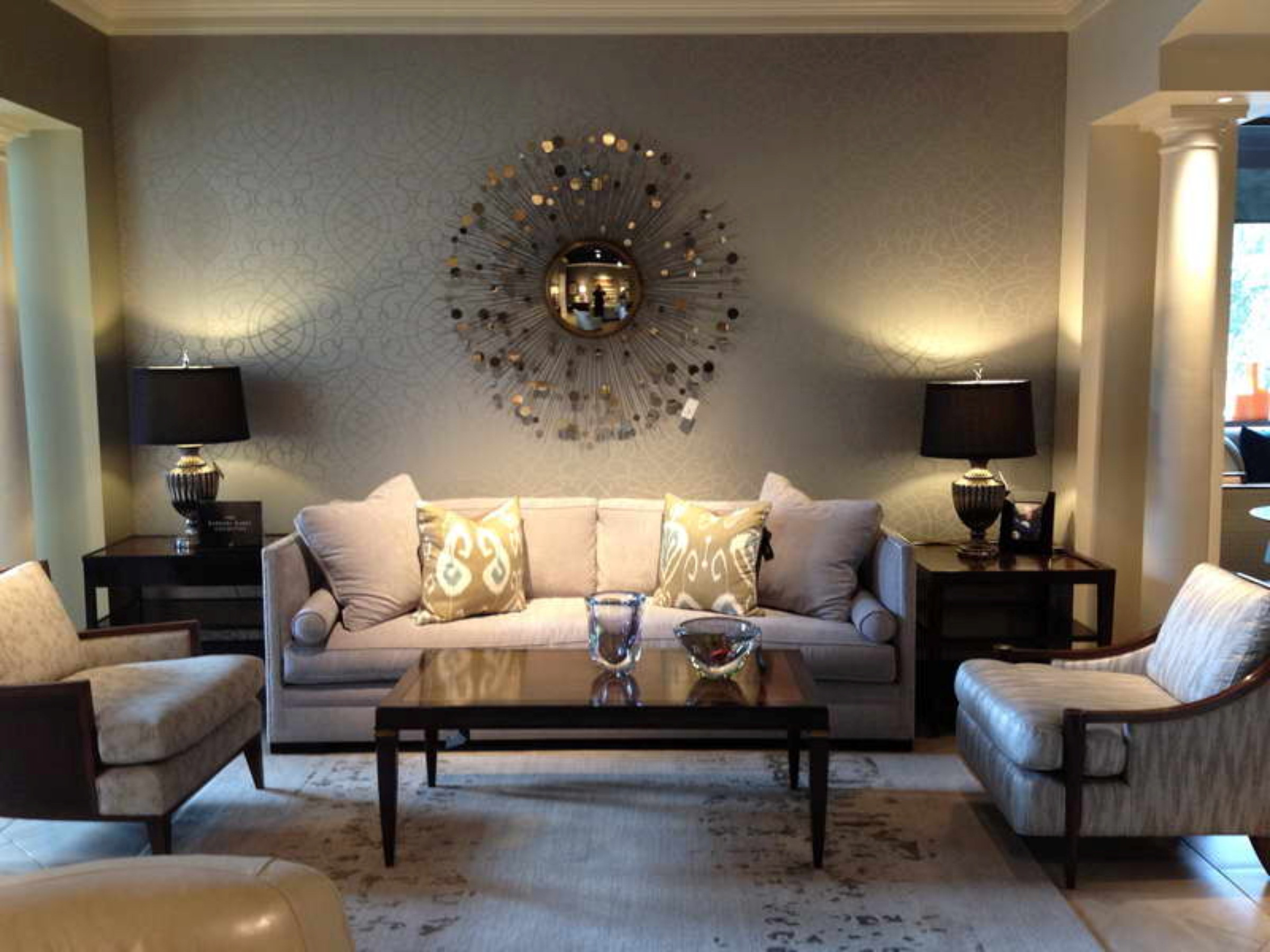 Attractive Ideas For Decorating A Large Wall In Living Room