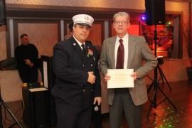 Capt. Baycan Fideli and firefighter Jim Creighton (134 calls).