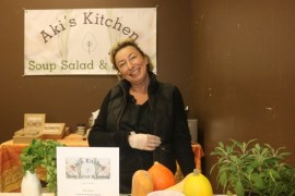 Aki Goldberg-Terwilliger of Aki's Kitchen, purveyor of soups, salads and sweets.