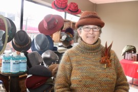 Yarn-maker and designer Peggie Ehlers of Nuna Knits is a Riverhead Farmer's Market veteran.