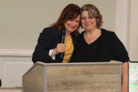 Councilwoman Catherine Kent and Laurie Downs