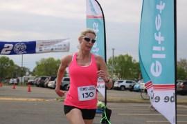 Laura Brown, 51, of Westhampton was the female winner.