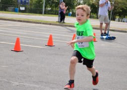 Jacoby Nordness, 6, of Mattituck, was the youngest runner to finish the race.