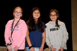 Essay contest winners Addison Heck, Isabella Umana and Dayami Carbajal