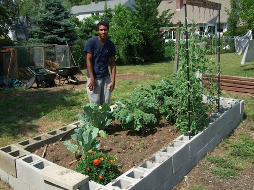 Cinder blocks are an easy way to build raised garden beds