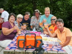 The Riverhead Moose Lodge held its annual chicken barbecue yesterday. (Photo: Emil Breitenbach Jr.)