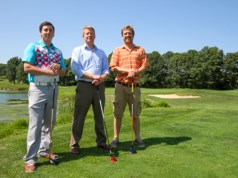 Lee Balsano, Pro-Shop Manager (left), Brian Curtin, Great Rock Golf Club Manager (middle) and Dan Wolf, Superintendent.