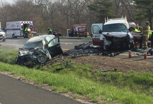 Cops: 24-year-old Riverhead man airlifted after head-on