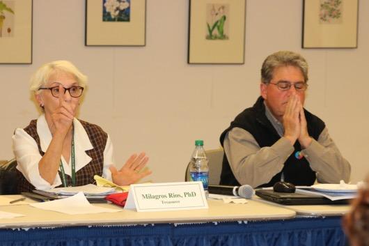 Board treasurer Milagros Rios and member Dean Terchunian. Photo: Denise Civiletti