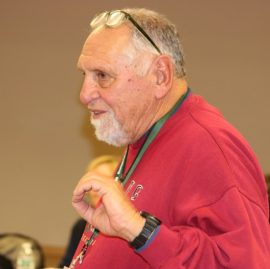 Trustee John Munzel, a retired Riverhead attorney, filed a complaint seeking removal of the board president but withdrew it Tuesday night because it did not have support of a board majority. Photo: Denise Civiletti