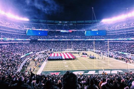 The pregame ceremony on the field at MetLife Stadium last. Photo: Facebook