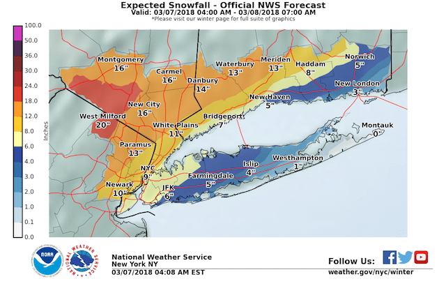 Another Winter Storm Days After Powerful Nor'easter