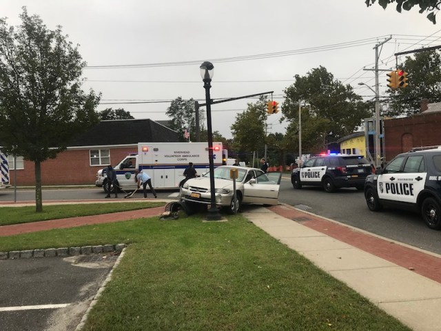 Crash at downtown intersection sends three people to hospital