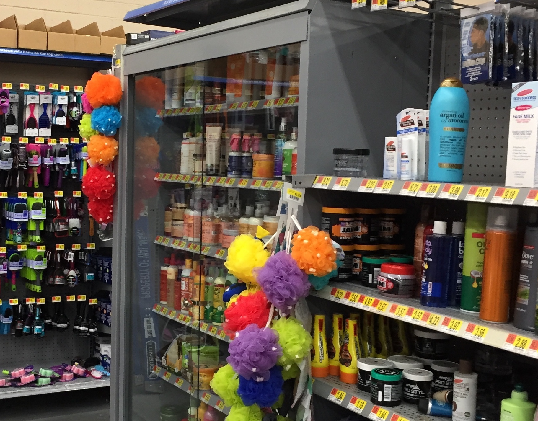 Residents irate over Walmart locking up African-American hair care