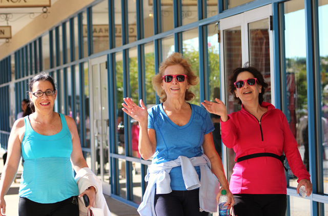 East End Women's Network members, from left, Jennifer Maertz of Rocky Point, Judith Rose and Cathy Schwartz, both of Hampton Bays.