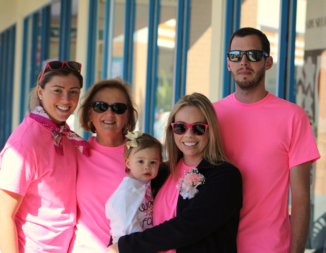 Cancer survivor Deanna Lilimpakis of Wading River with family.