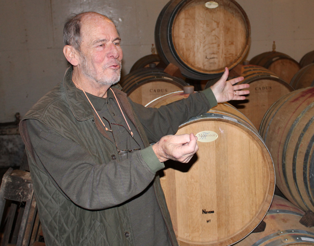 Marco Borghese during a tour of his Cutchogue vineyard in 2012. (Credit: Samantha Brix, file)