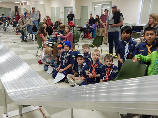Courtesy photos of the Cub Scouts'Pack 6 Pinewood Derby night by Derek Bossen.