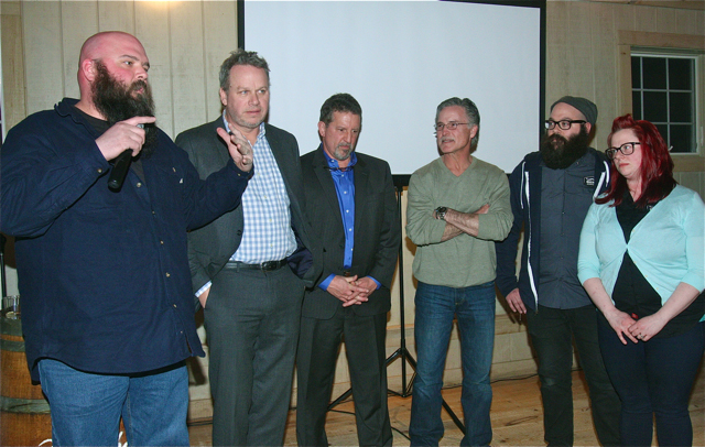 Business People of the Year: Dan Burke of Long Ireland Brewery (left) and Brewers of Riverhead and the North Fork. (Credit: Barbaraellen Koch)