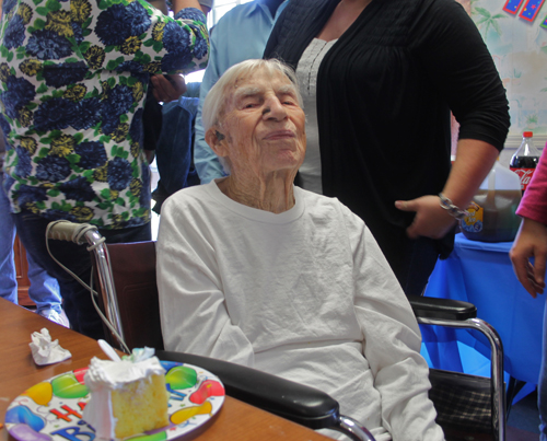 PAUL SQUIRE PHOTO | Longtime Riverhead resident Edward Mickaliger turned 100 Monday.