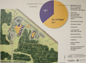 PAUL SQUIRE PHOTO | A concept map of the facility shows the layout of where patients would sleep on site.