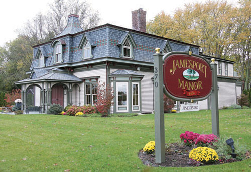 NEWS-REVIEW FILE PHOTO | Jamesport Manor Inn restaurant and inn operates in the site of what was a long-vacant Victorian-style house on Manor Lane.