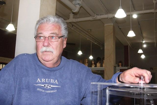 Robert James Salon owner Ray Pickersgill in his downtown shop. (Credit: Barbaraellen Koch, file)