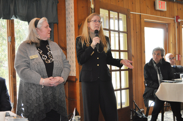 Long Island Board of Realtors president-elect Mary Alice Ruppert speaks at last week's meeting. (Credit: Rachel Young)