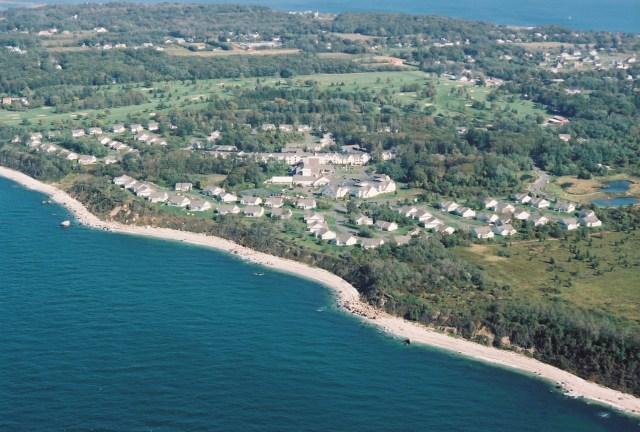 Shoreline facing south