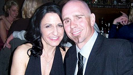 Anthony Hensley and his wife, Amy, in an undated photograph. (Credit: Facebook)