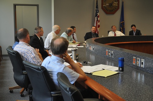 Tick committee members meeting in Riverside on Thursday. (Credit: Cyndi Murray)