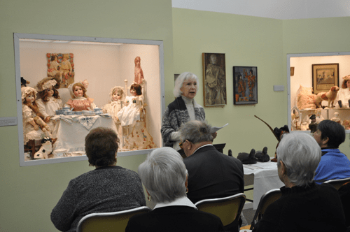 Suffolk County Historical Society executive director Kathy Curran addresses participants Saturday at the annual meeting of the Association of Suffolk County Historical Societies in  Riverhead in February. (Credit: Rachel Young file)