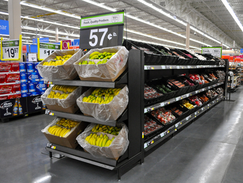 RACHEL YOUNG PHOTO | The new Walmart on Route 58 features a fresh produce section.