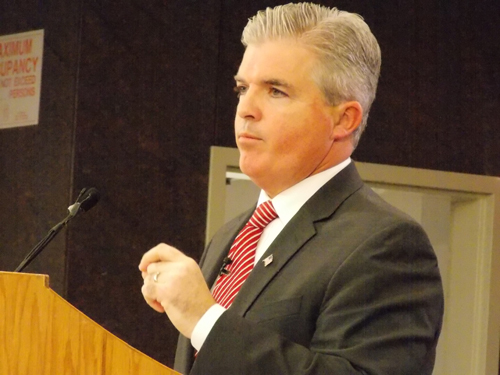 Steve Bellone delivering his State of the County speech on March 5. (courtesy)