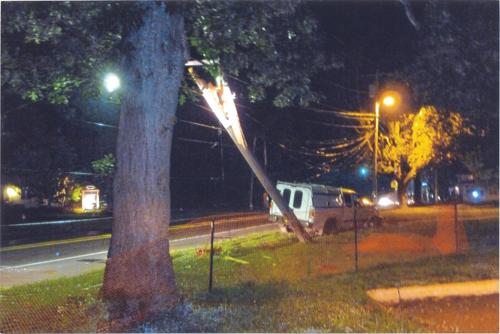 JERRY DONAHUE COURTESY PHOTO | Monday's nights crash scene on Main Road in Aquebogue.