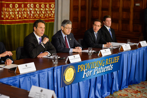 Governor Cuomo and legislative leaders announced an agreement yesterday on a bill to establish medical marijuana. (Credit: Gov. Andrew Cuomo's office)