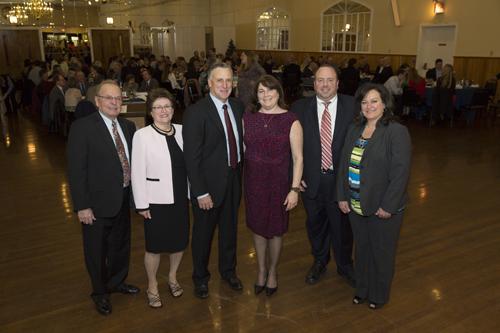 Mark Zaweski and family during the gala. (Credit: Courtesy LIFB)