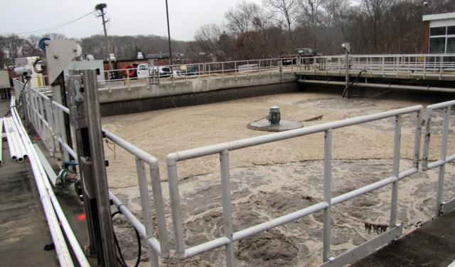 The Riverhead sewage treatment plant on Dec. 8 (Credit: Tim Gannon)