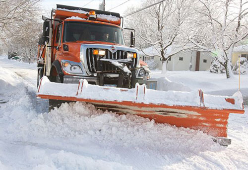 BARBARAELLEN KOCH FILE PHOTO | A Riverhead Town snow plow in Jamesport.