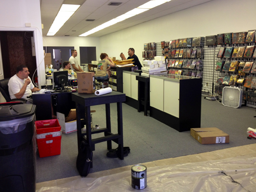 RACHEL YOUNG PHOTO | Downtown Riverhead's newest business, a board game store, will open its doors Saturday.