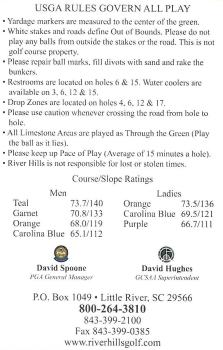 River Hills Scorecard Add