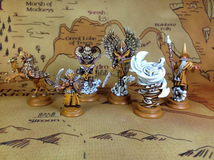 A painted Yellow Army (Air) from Loka by River Horse Games