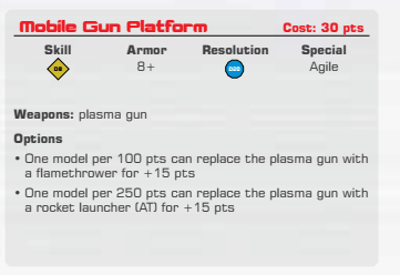 T-72 Gun Platform aka 'Spider-dog' for Terminator Genisys The Miniatures Game by River Horse