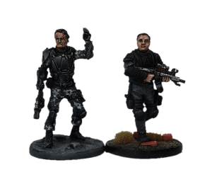John Connor and Resistance LT for Terminator Genisys the Miniatures Game by River Horse