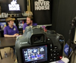 Filming in the River Horse Studio